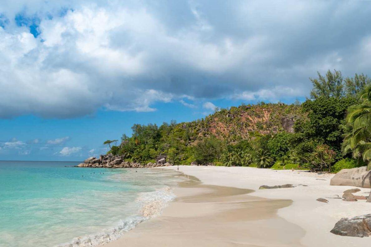 Pláž Anse Lazio, Praslin Island, Seychely