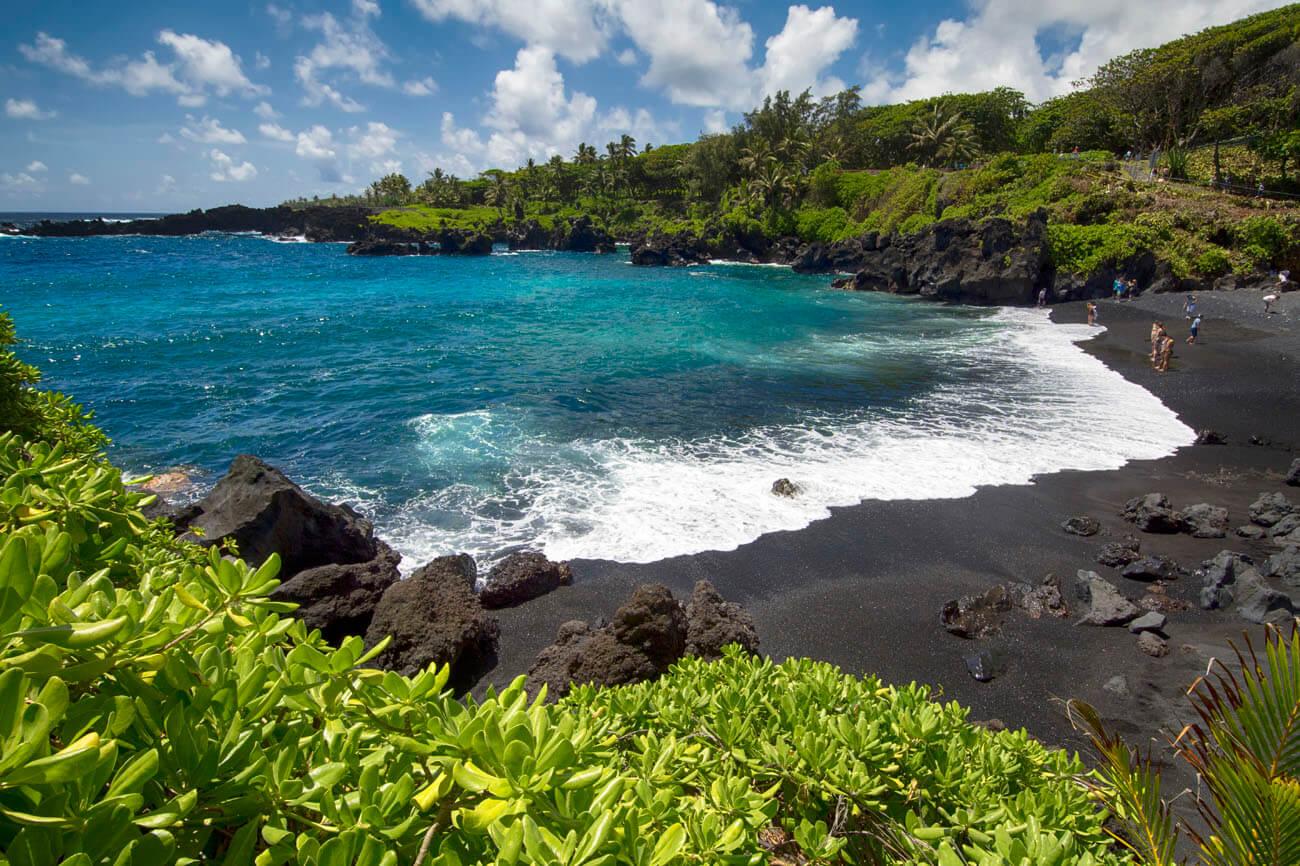 Honokalani Beach, Wai'anapanapa State Park, Maui